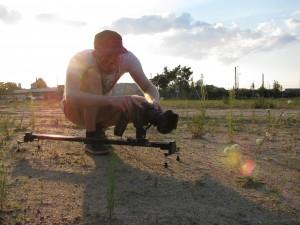 Slider und Nikon mit Kameramann